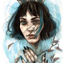 Reina de un mar de lágrimas. A Illustration, and Fine Art project by Vanesa Izquierdo Ruiz         - 08.11.2017