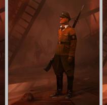 Creación personaje_soldado. Un proyecto de Cine, vídeo, televisión, Diseño de personajes y Diseño de juegos de Alexander  Brox - 14-11-2017