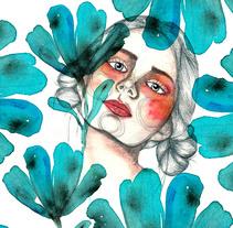 Mi Proyecto del curso: Retrato ilustrado en acuarela. A Illustration project by rrlosiram - 18-11-2017