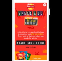Spell & Go - Walkers Campaign. A UI / UX, and Web Design project by Janaina Da Silva Alonso         - 02.02.2016