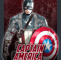 Mi Proyecto del curso: Del dibujo a lápiz a la ilustración digital | Captain America. A Illustration, and Graphic Design project by Nicolás Romero         - 28.11.2017