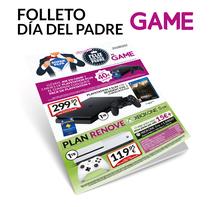 Folleto Día del Padre GAME. A Graphic Design project by Fernando Escolar López-Roso - 29-11-2017