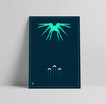 Babylon 5 poster - Starfuries vs Shadow. A Illustration, and Graphic Design project by Rubén Megido         - 29.11.2017