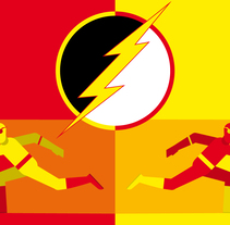 The Flash. A Illustration, Graphic Design, and Vector illustration project by Daniel Diaz Estrada - 04-12-2017