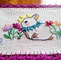 Mi Proyecto del curso: Técnicas de bordado: ilustrando con hilo y aguja. A Illustration, and Crafts project by Liz Vargas         - 21.08.2017