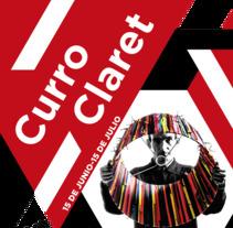 Ficticio de cartel exposición Curro Claret. Un proyecto de Diseño gráfico de Sergio Alvarez         - 07.12.2017