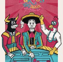 Feria Nacional de San marcos (190 años) . A Illustration, Character Design, Street Art, and Vector illustration project by Gar Dominguez Aguilar         - 09.12.2017