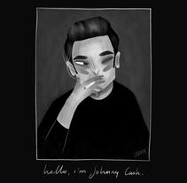 Hello, i´m Johnny Cash.. Un proyecto de Ilustración y Bellas Artes de lorena sanchez roman - 11-12-2017