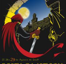 Cartel para concurso de carteles Festa da Istoria Ribadavia (Galizia, 2009). Un proyecto de Diseño, Ilustración y Diseño gráfico de Giuseppe Borio - 13-12-2017