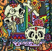 Día de muertos. Un proyecto de Ilustración y Diseño de patrones de naitux         - 18.12.2017