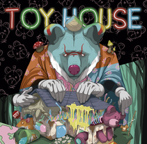 'TOY HOUSE' Pintura digital. A Design, Illustration, Character Design, Fine Art, Painting, To, Design, and Street Art project by Dhani Barragán         - 21.12.2017