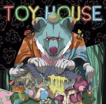'TOY HOUSE' Pintura digital. Um projeto de Design, Ilustração, Design de personagens, Artes plásticas, Pintura, Design de brinquedos e Arte urbana de Dhani Barragán         - 21.12.2017