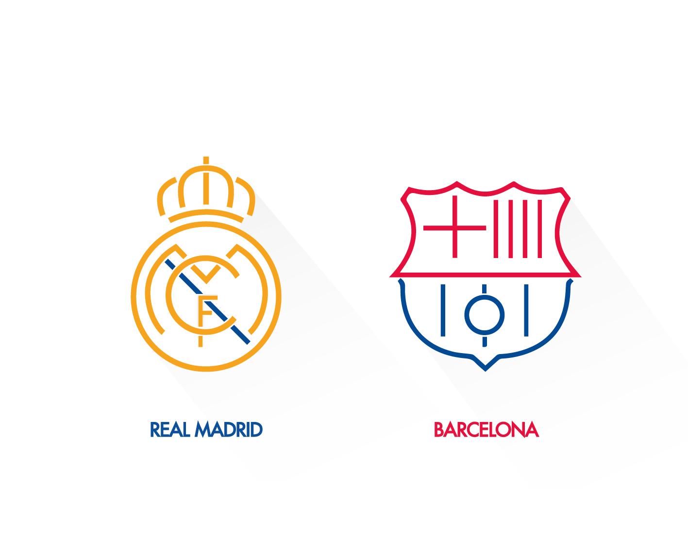 Diseño de escudos del Real Madrid y el Barcelona | Domestika