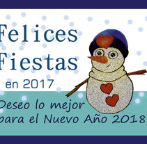 Proyecto 14 - Felices Fiestas. A Design, and Character Design project by Cristina GR         - 25.12.2017