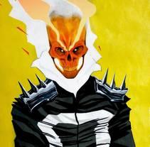Ghost Rider. Un proyecto de Ilustración y Comic de Adrián Rodríguez Pérez - 15-01-2018