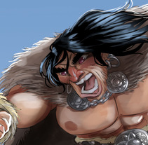 Conan vs rabbit. A Illustration, Character Design, and Comic project by Josep Giró  - 10-12-2017