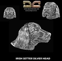 Irish setter dog head. Um projeto de Design de joias de Diego  Aramburu - 18-01-2018