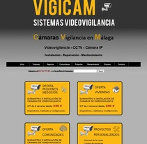 Web VigiCam - Videovigilancia. A Web Design project by Antonio Gonzalez         - 21.01.2018