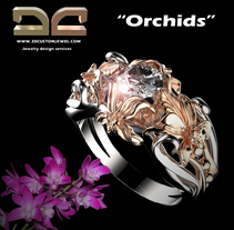 Orchids ring. A Jewelr, and Design project by Diego  Aramburu         - 02.02.2018