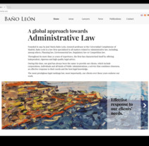 Web para abogados - Despacho de abogados online Baños Leon. A Design, Web Design, and Web Development project by César Martín Ibáñez         - 03.02.2018