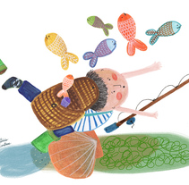 Don Hipo se fue a pescar. A Illustration project by Patricia Cornellana         - 04.04.2018