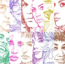 ICONOS Retratos de doble sentido.. Um projeto de Ilustración vectorial de Adrián Pereda Pascual         - 07.02.2018