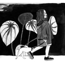 El Paseo: Introducción a la ilustración con tinta china: . Un proyecto de Ilustración de Lina Yumi Traspaderne         - 12.02.2018