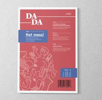 Dada Magazine. Un proyecto de Dirección de arte, Br, ing e Identidad, Diseño editorial, Diseño gráfico y Tipografía de Eduardo Ferrer         - 24.08.2017
