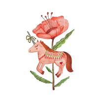 Entre unicornios y flores. Un proyecto de Ilustración de Budupí Budupí         - 14.02.2018