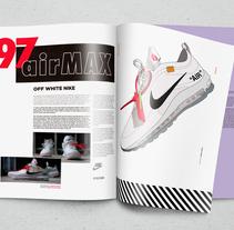 Nike X Offwhite ilustración y maquetacion. Un proyecto de Ilustración, Diseño gráfico e Ilustración vectorial de Alberto Molina         - 01.02.2018