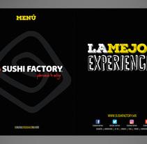 Menú Restaurant Sushi Factory 2015-2016. Um projeto de Design gráfico de Paola Villegas         - 21.02.2018