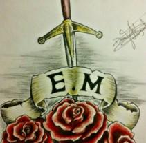 Boceto para tatuaje. Un proyecto de Diseño e Ilustración de Daniel Moguel del Río         - 21.02.2018
