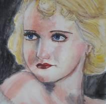 Bette Davis. Un proyecto de Ilustración, Cine, vídeo, televisión y Bellas Artes de Marina Romero Velasco         - 04.03.2018