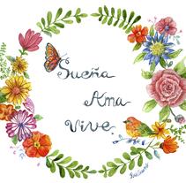 Mi Proyecto del curso: Rosetón de flores. A Illustration project by Rosa Calderón Chaves         - 07.03.2018