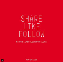 Share Like Follow Bcn. A Design project by Xavier Grau Castelló         - 12.03.2018