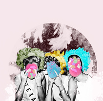 Fiesta. A Illustration, and Collage project by Pilar Santiño         - 23.03.2018