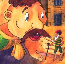 El gegant de Lapau. Il·lustració infantil. Tècnica aquarel·la.. A Illustration, Education, and Fine Art project by Miquel Oller Canet         - 14.04.2018